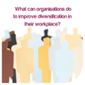 What can organisations do to improve diversification in their workplace?